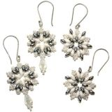 FREE Beaded Snowflake Earring Pattern at Bead-Patterns.com