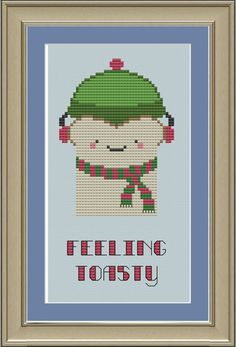 Feeling toasty cute crossstitch pattern by nerdylittlestitcher, $3.00