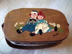 Vintage Caro Nan Raggedy Ann Woven Basket by happytrailsmichelle