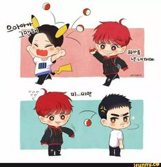 Totally Chanyeol doing that lol cx He unleashed Satansoo tho hahaha XD