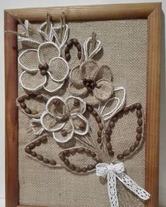 1 million+ Stunning Free Images to Use Anywhere Burlap Crafts, Diy Home Crafts, Handmade Crafts, Arts And Crafts, Burlap Lace, Burlap Flowers, Hessian, Diy Bottle, Bottle Crafts
