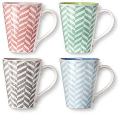 BIA Cordon Bleu Lola Mugs Set of 4 (14 oz)