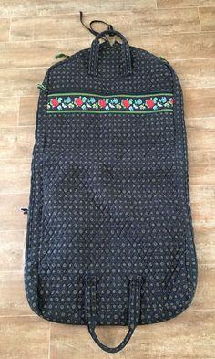 Garment Bag Vera Bradley Vibrant Black retired luggage carry case vintage cover #VeraBradley