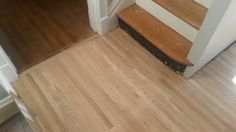 New floor in the kitchen looks great, can't wait to see it with stain and poly