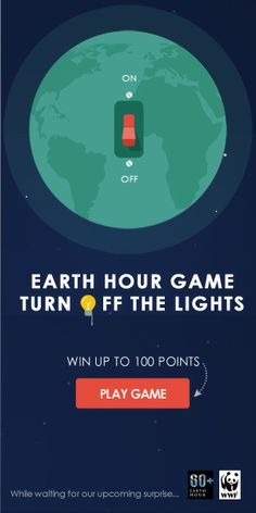 Mini Games, Games To Play, Earth Hour, Save Energy, Insight, Promotion, How To Get, Lights, Tips