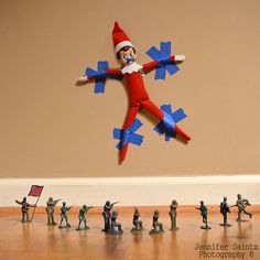 20 Fun Elf on the Shelf Ideas to keep your elf moving. Elf antics and fun mischief for your Elf on the Shelf this holiday season.