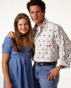 Candace(Dj Tanner) and Scott Weinger(Steve Hale)