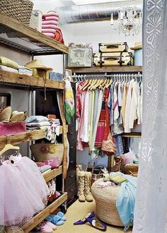 beautiful wood over a cheap closet storage system