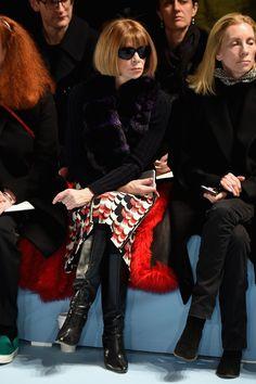 Pin for Later: Les Stars Sont au premier Rang Pour la Fashion Week de New York Anna Wintour Au défilé Carolina Herrera.