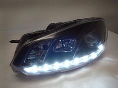 S5 Style LED Smoked / Black Projector Headlights for MK6 Golf, GTI  MK6 JSW