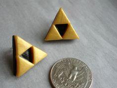 GUO GUO'S The Legend of Zelda Triforce Earrings / by GUOCRAFTS, $5.80
