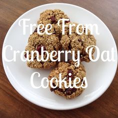 Dot Makes 4: Free From Cranberry Oat Cookies