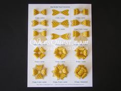 Bow Builder Punch Chart | 15 different variations of bows, Video Tutorial, Stampin' Up, Qbee's Quest, Brenda Quintana