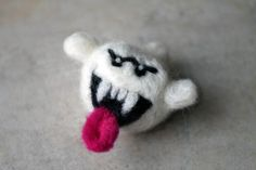 Boo Needle Felted Figure, $16.00