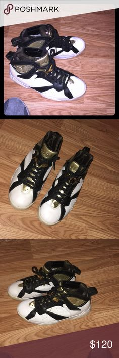 jordan 7 champagnes size 8 a little beat but not really barely worn Jordan Shoes Sneakers