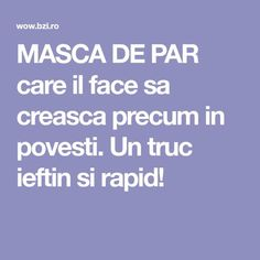MASCA DE PAR care il face sa creasca precum in povesti. Un truc ieftin si rapid! Health Fitness, Hair Beauty, Vegan, Shake, Projects, Medicine, Pharmacy, The Body, Log Projects