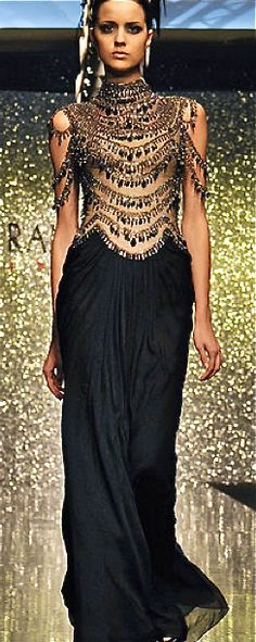 Rami Al-Ali | Arabic Inspired Jewel Drape Gown