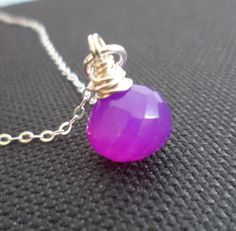 Purple Chalcedony and Sterling Silver by Jenalynscreations on Etsy