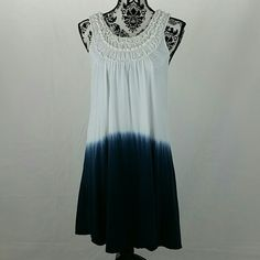 """final price $25 Ruffle Ombre Sleeveless Dress Brand:  Isda & Co Cute dress!  EUC No stain except a tiny spot inside of right shoulder (see pic 4).  Measurements Laying Flat Across: Length:  33"""" Armpit-to-armpit:  17"""" Dresses Midi"""