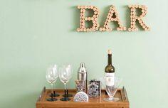 Rolhas para decorar o seu bar