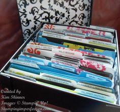 Stampin' Up! scrap paper storage idea