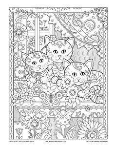Window Box : Creative Kittens Coloring Book by Marjorie Sarnat