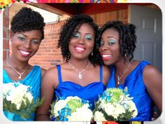All three of these women are wearing crochet braids! #versatile