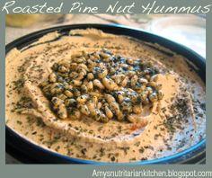 ANK's Mock Sabra Roasted Pine Nut Hummus, same great taste, much less oil!