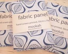 mookah screen printed fabric panel