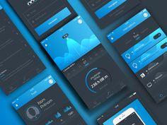 App smart home odomo ios mobile ui examples mobile ui, app u Dashboard Mobile, Mobile Ui, Mobile Phones, Phone Logo, Ios Design, Ui Web, Plaza Hotel, Mobile App Design, Apps