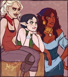 orokay:  da2 dlc where you and the fam just sit in different places around kirkwall and judge people