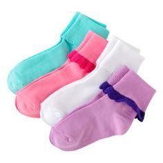 Trimfit 4-pk. Turn-Cuff Socks - Girls; $5.60 sale