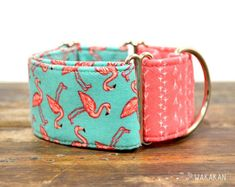 Adjustable and handmade with cotton fabric. Bandanas, Martingale Dog Collar, Dog Collars & Leashes, Pink Bird, Summer Design, Collar And Leash, Coin Purse, Etsy Seller, Cotton Fabric
