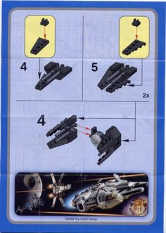 LEGO 6965 TIE Interceptor instructions displayed page by page to help you build this amazing LEGO Star Wars Mini set Lego Creations Instructions, Cool Lego Creations, Nave Star Wars, Star Wars Art, Star Trek, Lego Star Wars Mini, Lego Creative, Lego Kits, Lego Sculptures