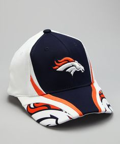 b989a0e3035 Take a look at this White  amp  Navy Denver Broncos Baseball Cap by NFL on