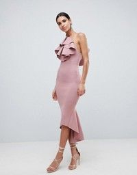 online shopping for ASOS Scuba Halter Ruffle Front Midi Bodycon Dress from top store. See new offer for ASOS Scuba Halter Ruffle Front Midi Bodycon Dress Asos Dress, Dress Up, Bodycon Dress, Asos Wedding Dress, Cocktail Outfit, Clothing Sites, Simple Dresses, Dresses Online, Ideias Fashion