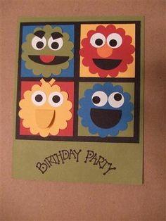 sesame street - birthday party invites!!