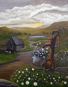 """Dream like quality """"Peace In The Valley"""" #painting #art by Sheri Keith"""