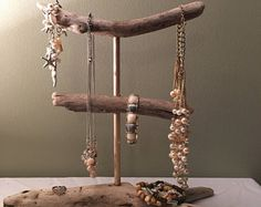 BACK IN STOCK jewelry Driftwood Bracelet holders Necklace holders organizers decor house Beach jewelry Reclaimed Shabby Chic Display