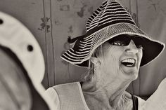 image by @Heather Espana McGeehon #Nicaragua #Granada #BW #laugh #wrinkles #hat #stripes