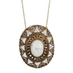 House of Harlow by Nicole Richie Womens Wari Ruins Fashion Pendant Necklace