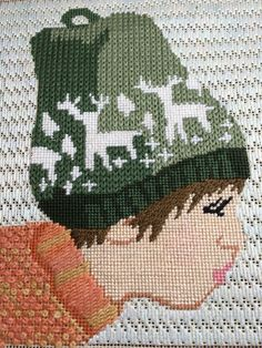 Wonderfulneedlepoint, biy in winter, designer unknown