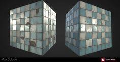 ArtStation - Damaged Tile Graph (Substance Designer), Max Golosiy