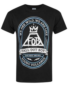 Official Fall Out Boy Young Volcanoes Men's T-Shirt: Amazon.co.uk: Clothing