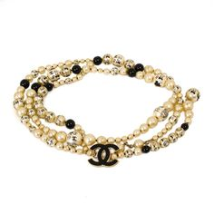 """Chanel 42"""" Pearl Necklace Belt CC Logo charm chain 2006 #Chanel #Chain"""