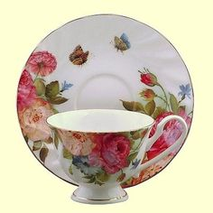 Sandra's Rose Bone China Tea Cup Teacup