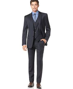 fitted navy pinstripe suit with brown shoes | Dressing up my Ken ...