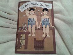 Geldgeschenk Karte Sauna, Wellness, Beauty