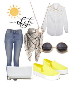 """sun shines"" by isuchalove on Polyvore featuring Our Family, Topshop, Relaxfeel and GUESS"