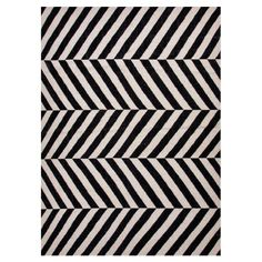 Altura Rug in Black & Ivory - Pop of Preppy on Joss & Main